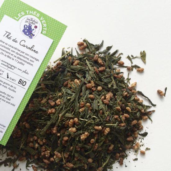 Le thé de Caroline, un genmeisha BIO