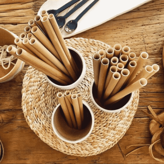 Pailles en bambou naturelles et biodégradables