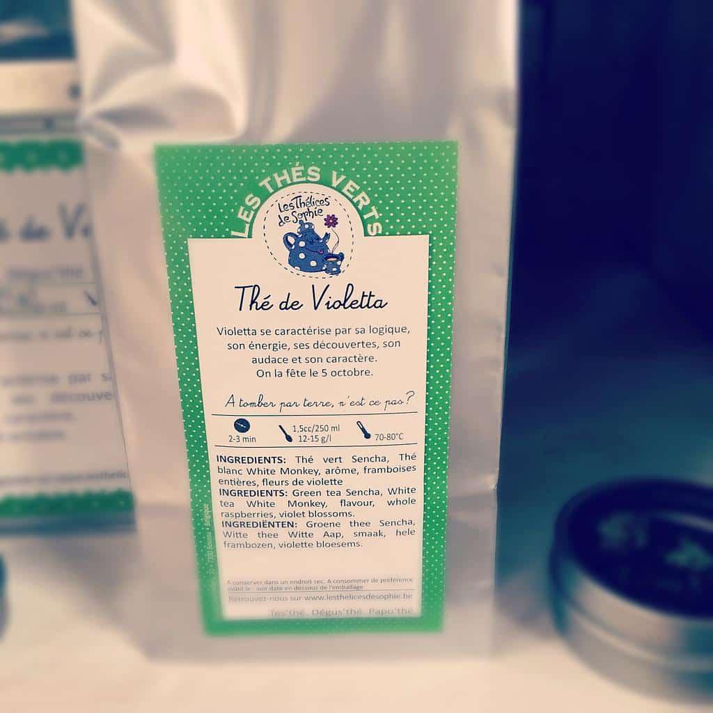 Thé de Violetta : thé vert framboises, violette