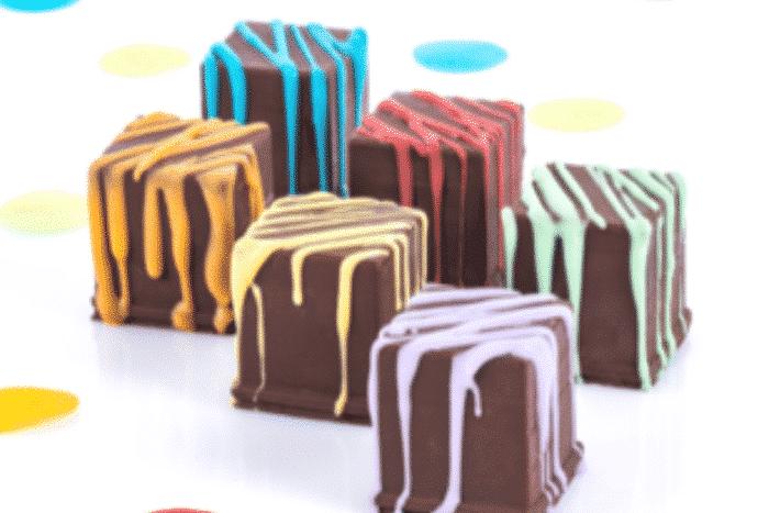 Cube au chocolat fourrés