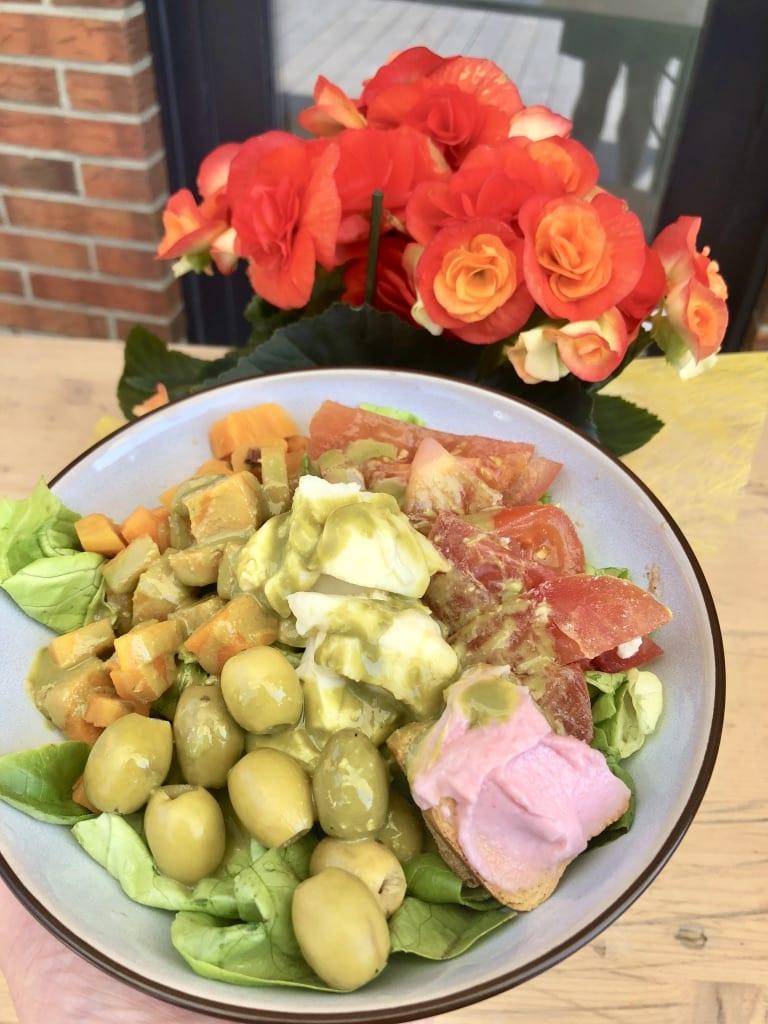 Salade vinaigrette Matcha