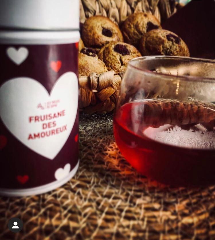Muffins à la fruisane des amoureux